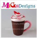 OEM Girl Gift Ceramic Cupcake Canister