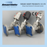 Smart Normally Closed Flange Pneumatic Angle Seat Valve