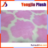 Pink and White Two Color Jacquard High Pile Fur Fabric