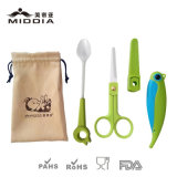 Baby Goods for Ceramic Food Tool Set Feeding Tools Knife Scissors Spoon