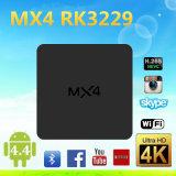 Android 4.4 Stable Kodi Smart Box Mxq-4k Rk3229 Android Quad Core Mx4 Smart Box