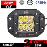 CREE Work LED Light Flush Mount (3inch, 30W Spot, IP68 Waterproof)