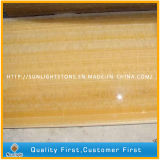 Polished Natural Yellow Honey Marble Onyx for Slabs, Tiles, Mosaics
