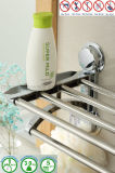 Bathroom Sanitary Stainless Steel Chromed Plated Towel Rack with Suction Cup