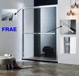 Aluminum Alloy Frame Double Sliding Shower Door Bathroom Furniture Sanitary Ware Shower Set