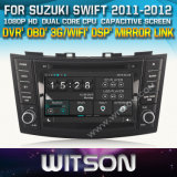 Witson Car DVD for Suzuki Swift 2011-2012 (W2-D8653X) Car DVD GPS 1080P DSP Capactive Screen WiFi 3G Front DVR Camera