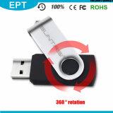 Black Rotatable Plastic USB Flashdrive