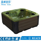 Acrylic 5 Person Use Square Big Massage SPA Tub (M-3382)
