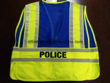 Safety Police Vest with Print Logo Five Tear Away