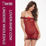 Women′s Red Sexy Babydoll Lingerie Sets (L2385)