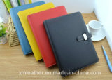Custom PU Leather Hardcover Paper Diary Book, Office Supply