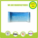 Custom Small Pack Rolled Wet Towel for Hand and Face
