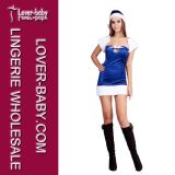 Adult Girls Blue Chrismtas Costume Xmas Dress (L70930)