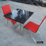 Modern Solid Surface Black Square Restaurant Table Top Wholesale