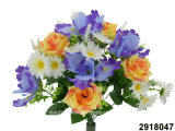 Artificial/Plastic/Silk Flower Rose/Iris/Daisy Mixed Bush (2918047)