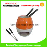 Ceramic Fondue Cheese Tools on Cooke Ware Sets