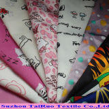 Polyester Pongee Printed Fabric Microfiber for Down Jacket