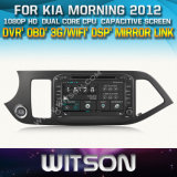 Witson Car DVD for KIA Morning 2012 (W2-D8526K) Car DVD GPS 1080P DSP Capactive Screen WiFi 3G Front DVR Camera