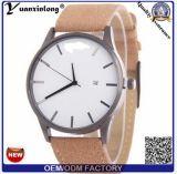 Yxl-914 2016 Luxury Brand Date Rectangle Genuine Leather Strap Waterproof Casual Quartz Watch Men Sports Wrist Watch Male Clock