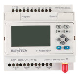 GSM/SMS/GPRS PLC, Ideal Solution for Remote Control& Monitoring &Alarming Applications (EXM-12DC-DAI-R-4G)