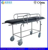 Buy Medical Instrument Stainless Steel Hospital Stretcher with Wheels