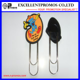 Customized 3D Soft PVC Rubber Paper Clip Bookmark (EP-C57291)