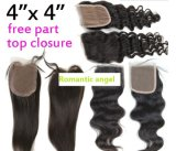 Lace Closure Frontal Three/Free/Middle Part Top Swiss Lace Closure Straight Brzilian Virgin Human Hair Closures Pieces