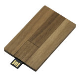 Christmas Wood Credit Card USB Flash Drive Memory Stick 8GB