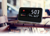 Colorful Display Home Weather Station Clock with Sound Controlled Function