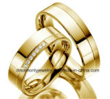 Men and Women′s Gold Wedding Ring Promise Couple Ring