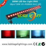 UV LED Bar Light 18PCS*18W RGBWA+UV 6in1 CREE LEDs with, Ce, RoHS, UL