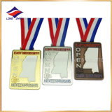 Gold Silver Copper Karate Medals Hollow out Medals with Ribbon