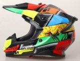 2017 New Carbon Fibre Material off Road Motorbike, Cross Racing Helmet with ECE Homologation