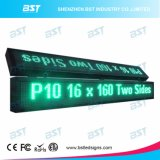 P10 Double Sided Double Line Green Outdoor LED Message Sign