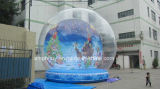 4m Dia Giant Inflatable Human Snow Globe with Advertising Background