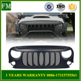 Front Grill Grille with Mesh for Jeep Wrangler Jk 2007+