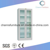 High Quality Two Glass Door Office File Metal Cabinet