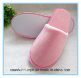 Pink Color Disposable Slipper for Hotels and Travel SPA