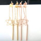 Star Fashion Accessories Stainless Steel Tassel Long Drop Earrings