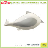 Fish Shape White Color Melamine Fish Plate Wholesale