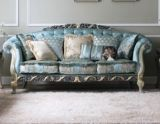 Divany Classical Solid Wood Sofa, Fabric Sofa