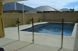 Swimming Pool Glass Balustrade with Glass Door