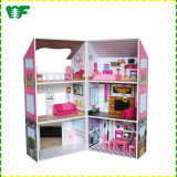New Arrival Wholesale Kids Wooden Mini Doll Houses