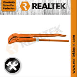 Round Jaws Double Handle Pipe Wrench