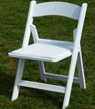 White Resin Wimbledon Chair, Resin Folding Chair for Wedding Ceremony