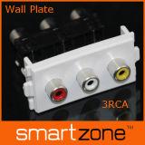 Audio Wall Plate, AV Face Plate (9.1113)