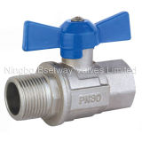 Butterfly Handle Brass Water Valve (BW-B26)