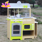Wholesale High Quality Wooden Toy Kitchen Sets for Kids, New Design Home Play Wooden Toy Kitchen Sets for Kids W10c249