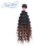 2017 New Star Popular Ombre Deep Wave Virgin Human Hair Extension