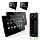 4 Buttons Intercom System Touch Screen 7 Inches Home Security Video Doorphone